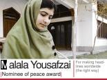 Mala Yousafzai Nominee of peace award