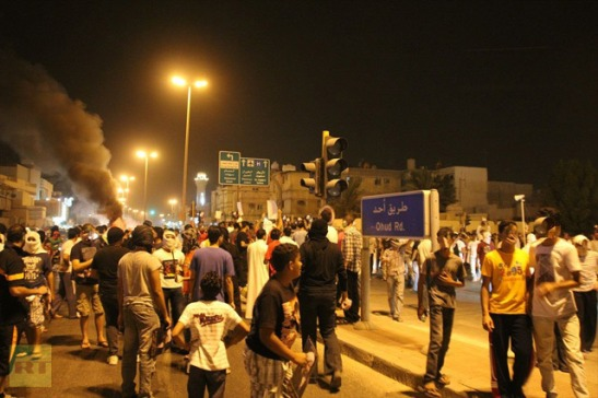 Protesters in Qatif (photo from Facebook)